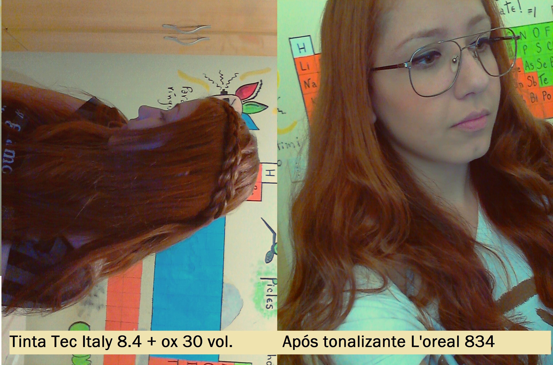 Testei tonalizante L'oreal casting creme gloss 834: Caramelo